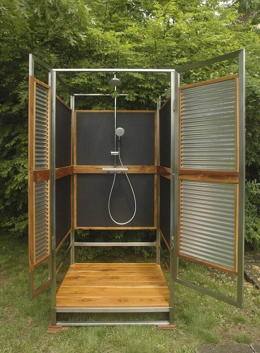 DIY outdoor showers for a more affordable alternative