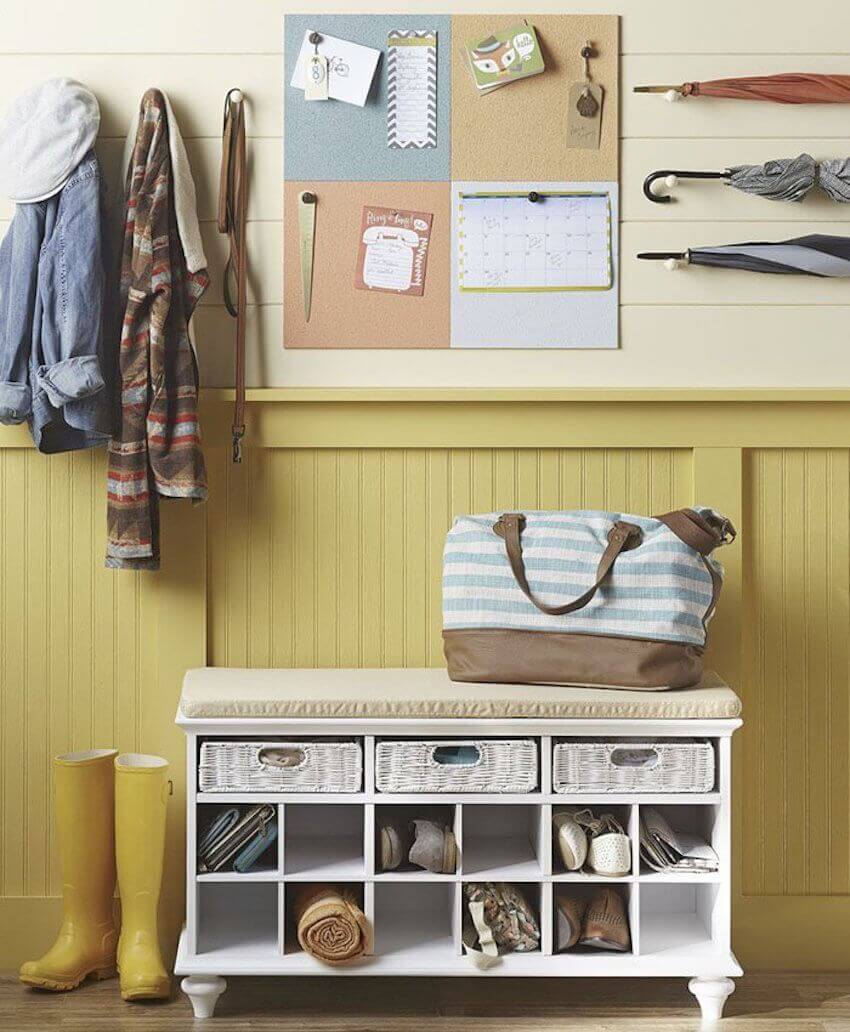 Organization is key! And a mudroom helps greatly