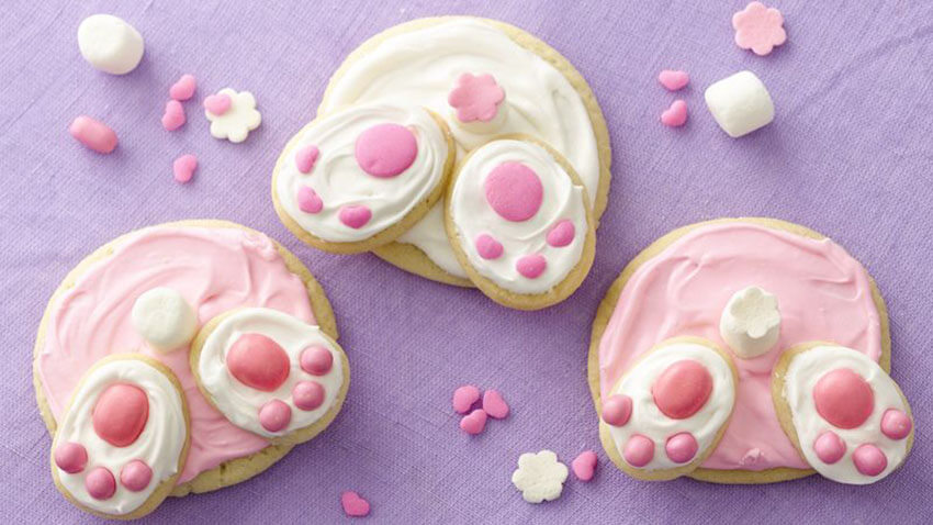 These bunny butt cookies are perfect to celebrate the holiday