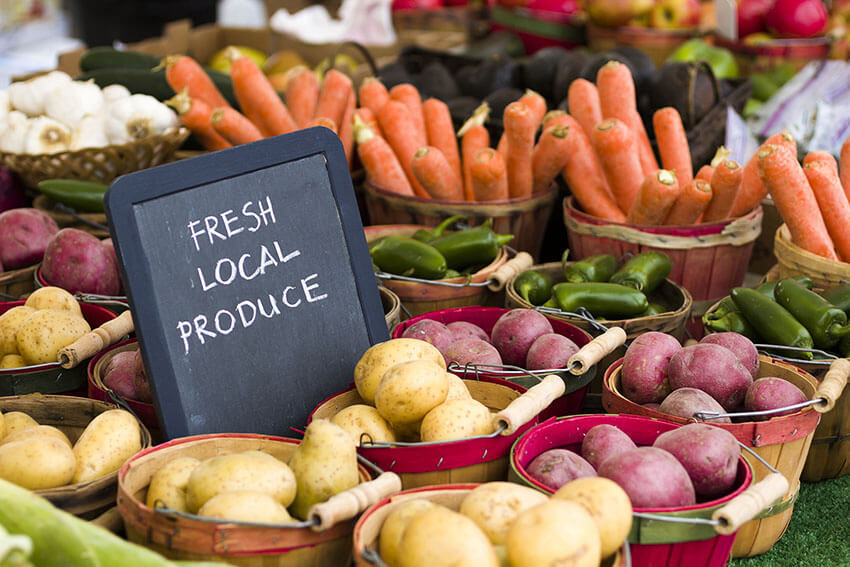Buy food locally to purchase healthier options and support your local community.