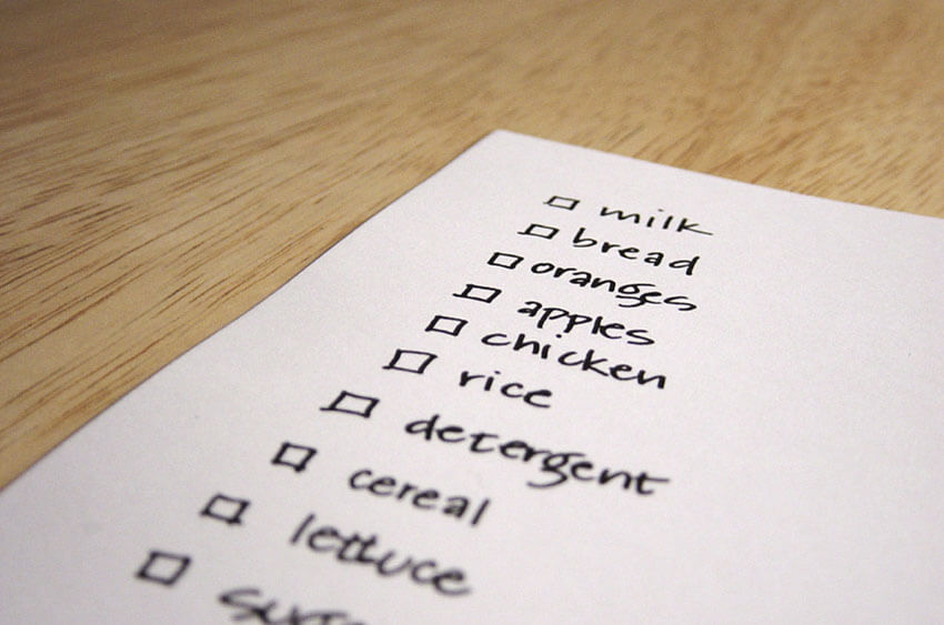 Make lists and plan ahead to save money and avoid wastage.