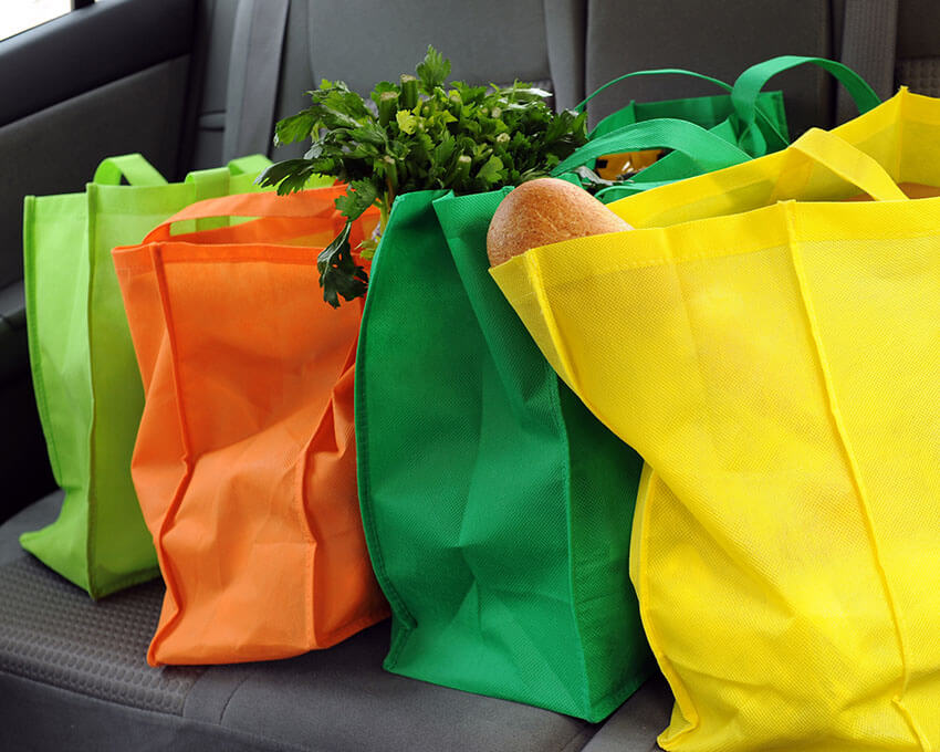 Reusable plastic bags is an amazing and easy eco-friendly choice.