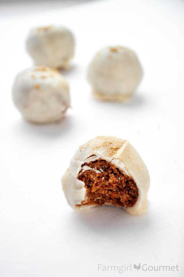 For a one-bite dessert that will leave you wanting more, try these eggnog and bourbon dessert balls!
