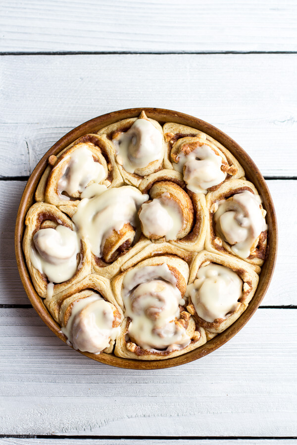 Who says dessert has to be eaten after dinner? These eggnog cinnamon rolls are a delicious way to start off your day!