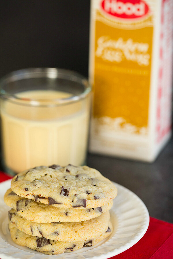 Add a little unique twist to your chocolate chunk cookies this year by adding eggnog!