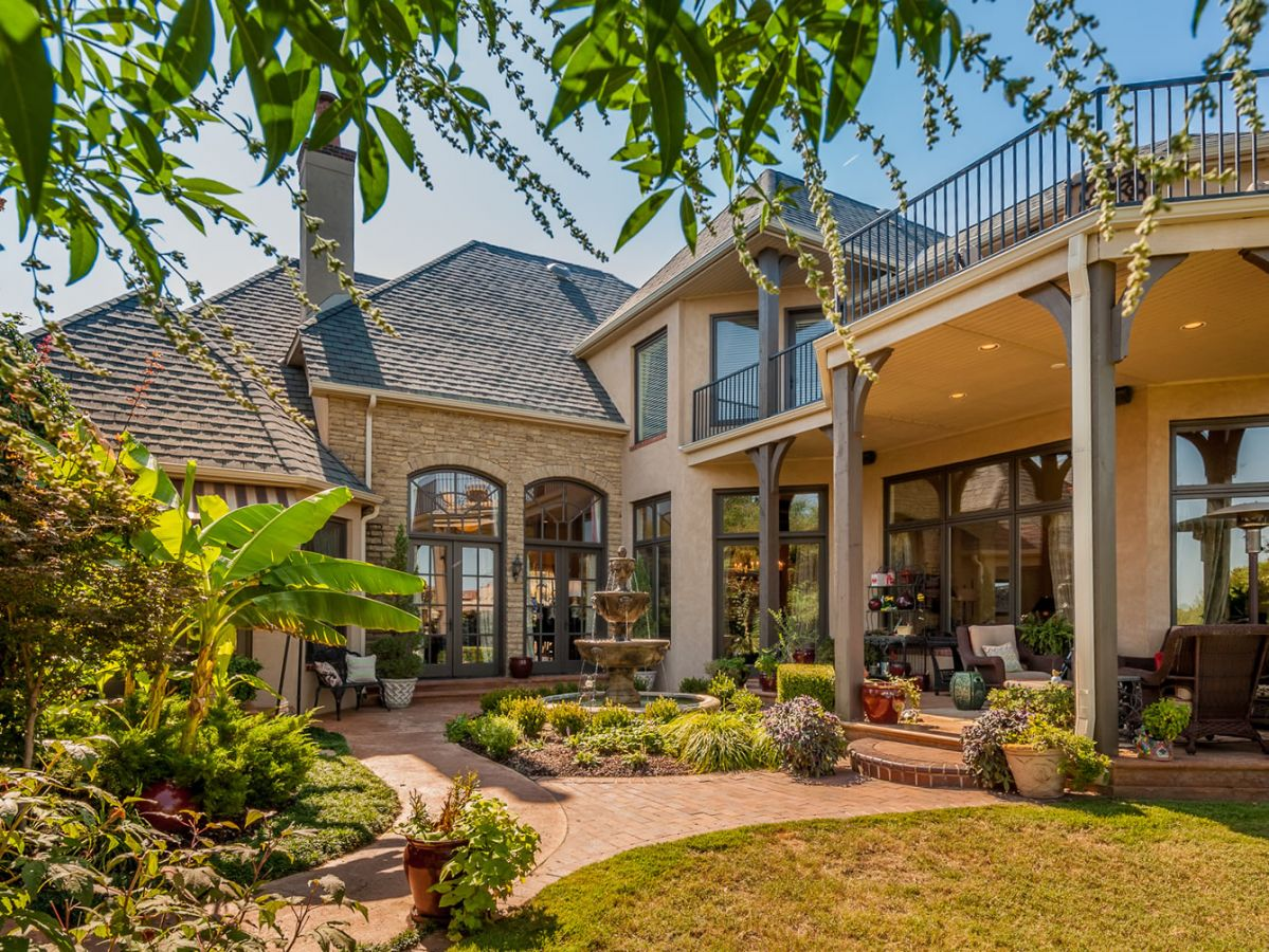 French County home exterior design