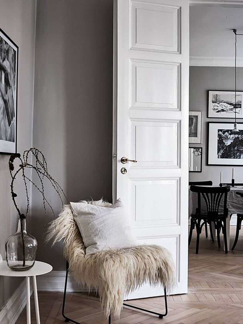 Make your home cozier and more stylish with faux fur.