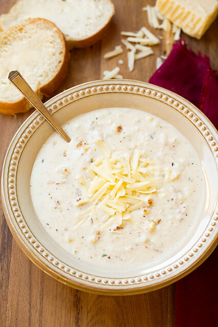 Hearty, creamy, and oh so delicious! This roasted cauliflower and white cheddar soup is a must-try this fall.