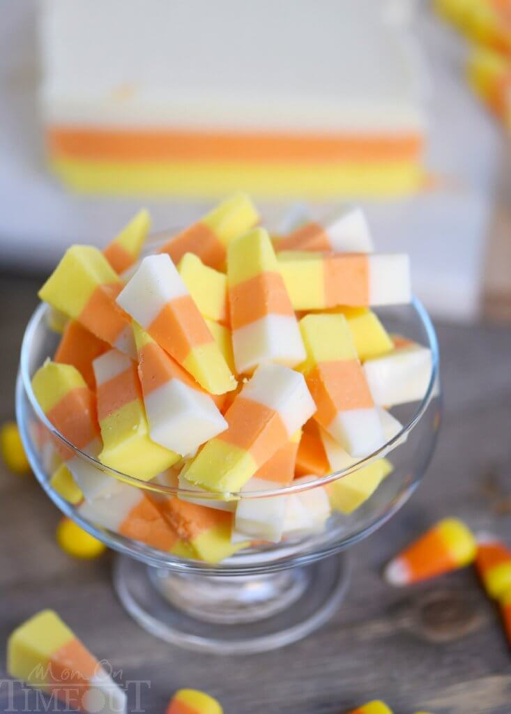 Candy corn may be synonymous with Halloween, but you can update the love/hate candy by making your own candy corn-inspired fudge!