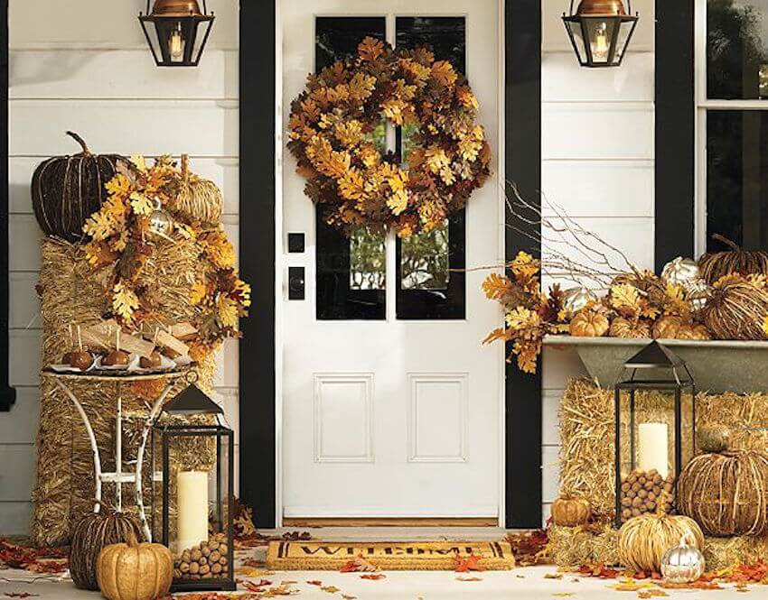 Black and white paint job that fits with fall decor