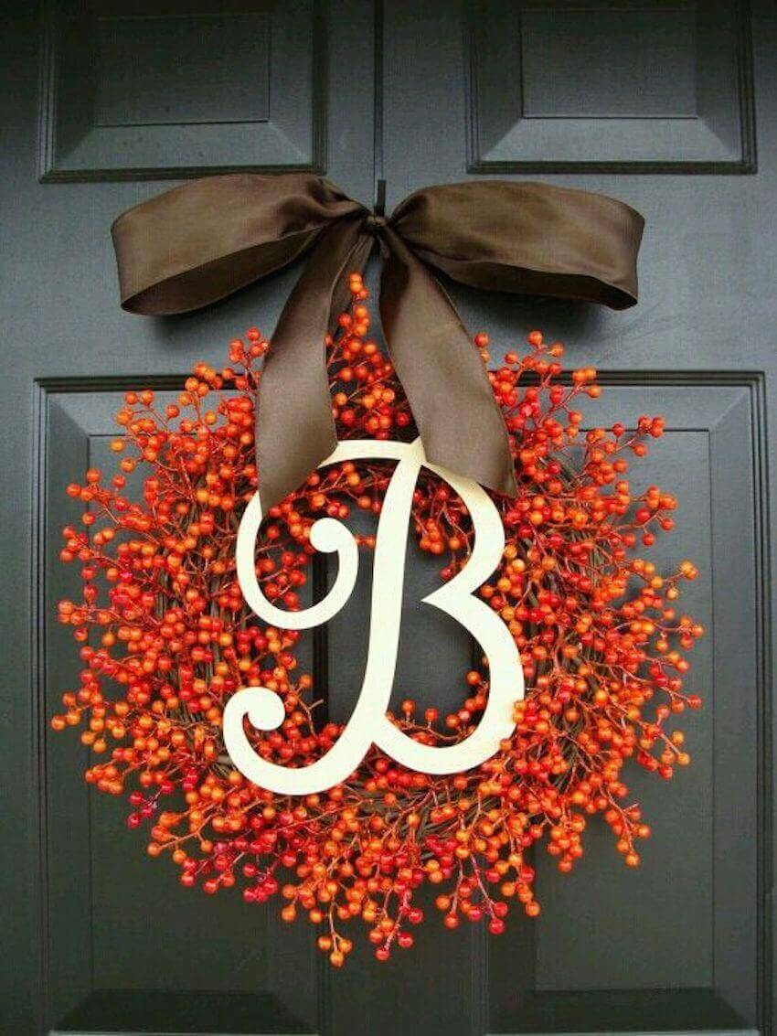 Keep a fall wreath outside your front door this season