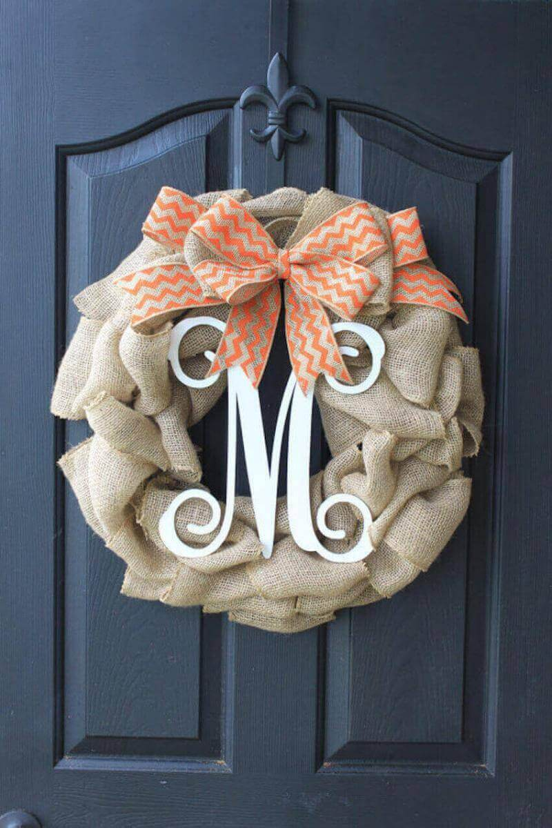 Lettered wreaths let everyone know who's home this is