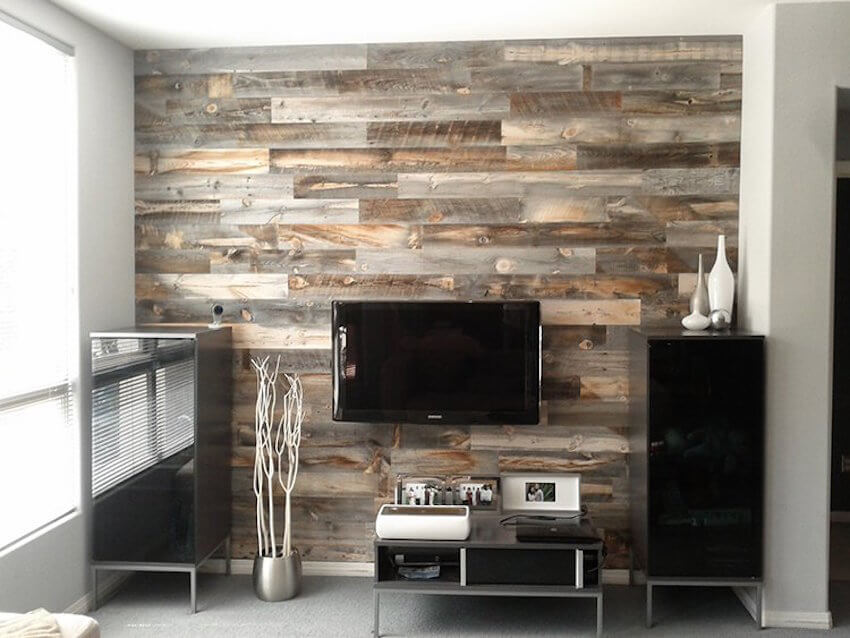 Turn your living room into an awesome new room by beautifully upcycling reclaimed wood.