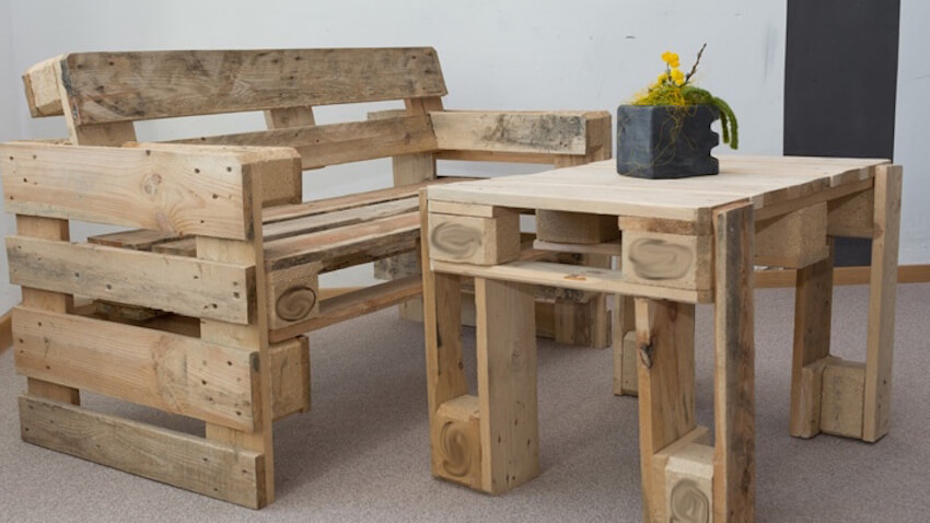 Add a touch of the rustic style to your home with upcycled furniture made out of pallets