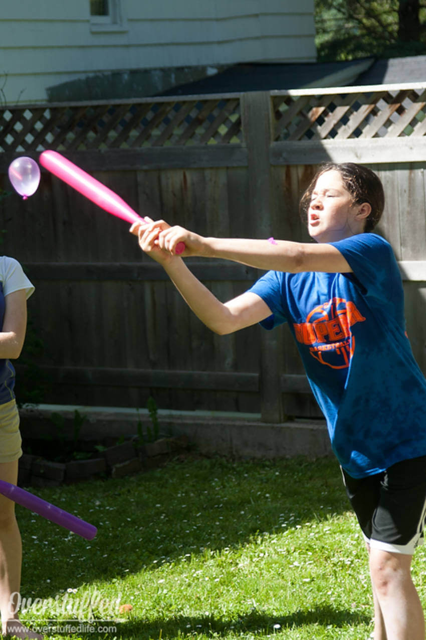 Baseball is always fun, especially when it involves water balloons!