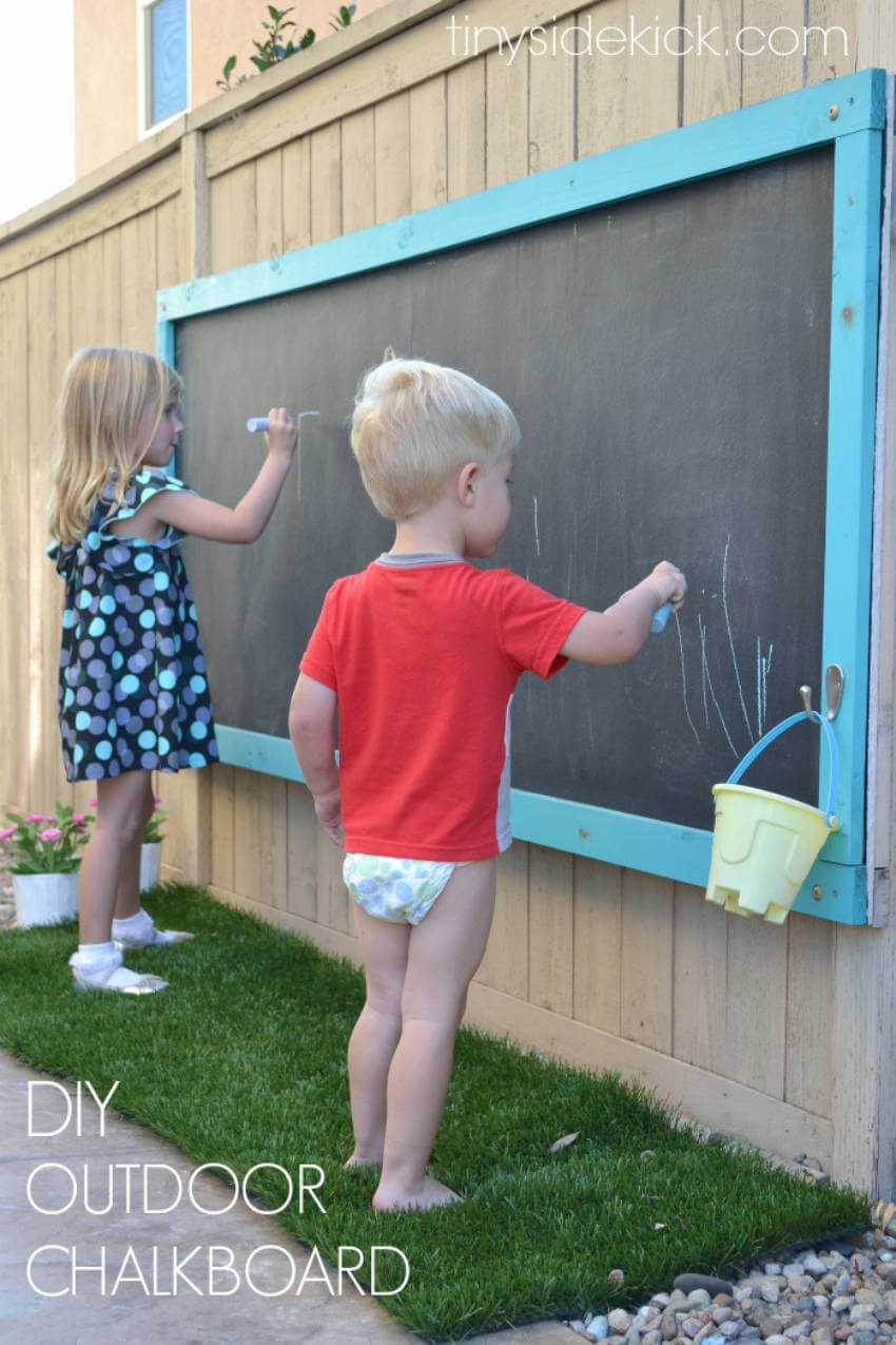 A chalkboard is a must for very house with kids!