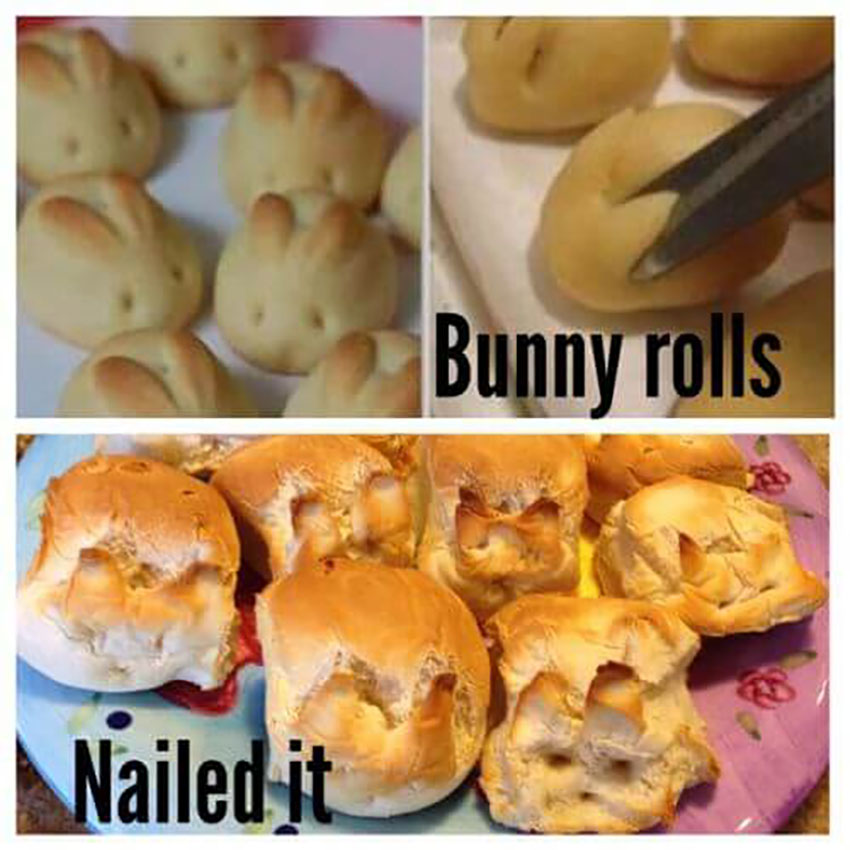 These bunny rolls are perfect for halloween!