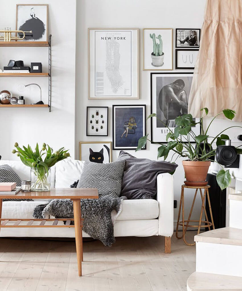 Any space can be used as a gallery wall.