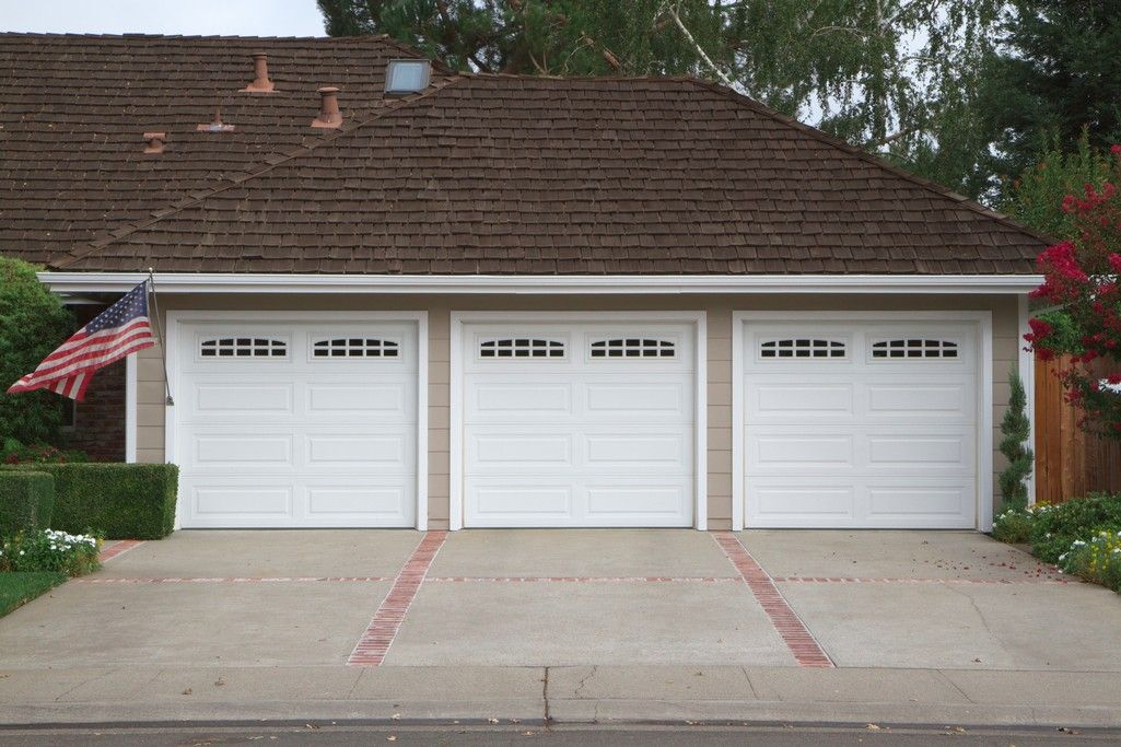 Vinyl garage doors are available in a wide variety of colors.
