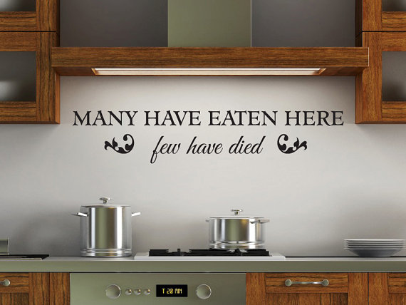 use funny kitchen decals to give your kitchen a personality of its own