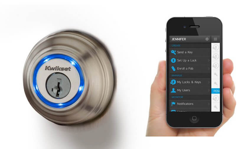 Front door lock control from anywhere