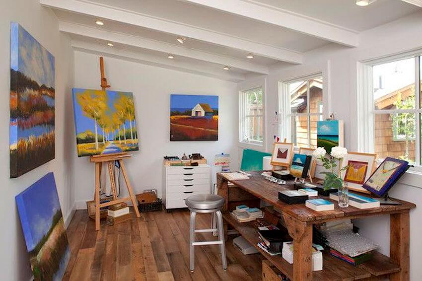 Home art studios: try to find the right size for your painting