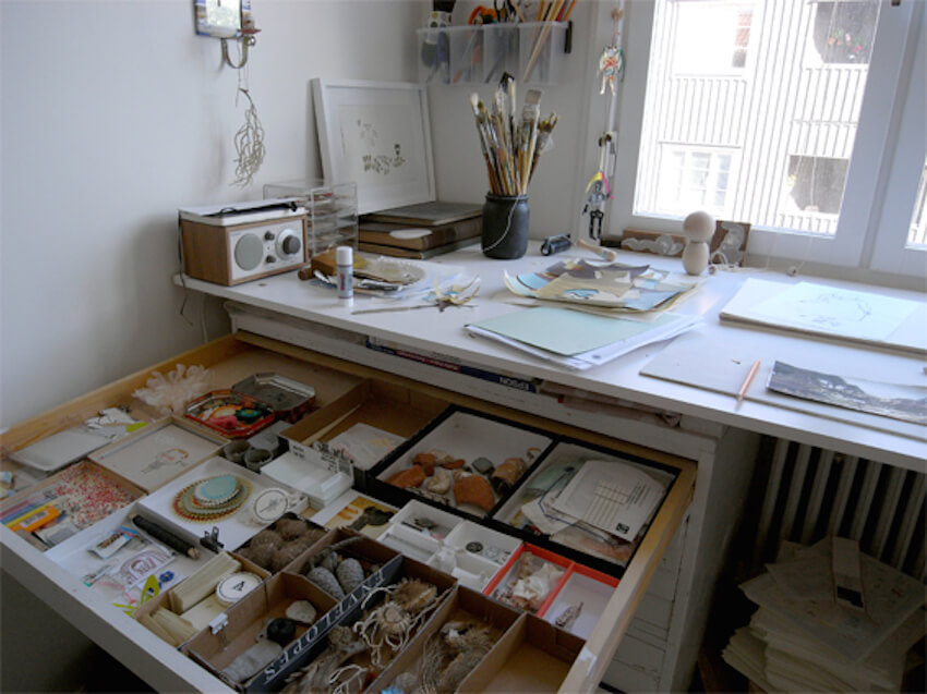 Stay organized in your interior home studio