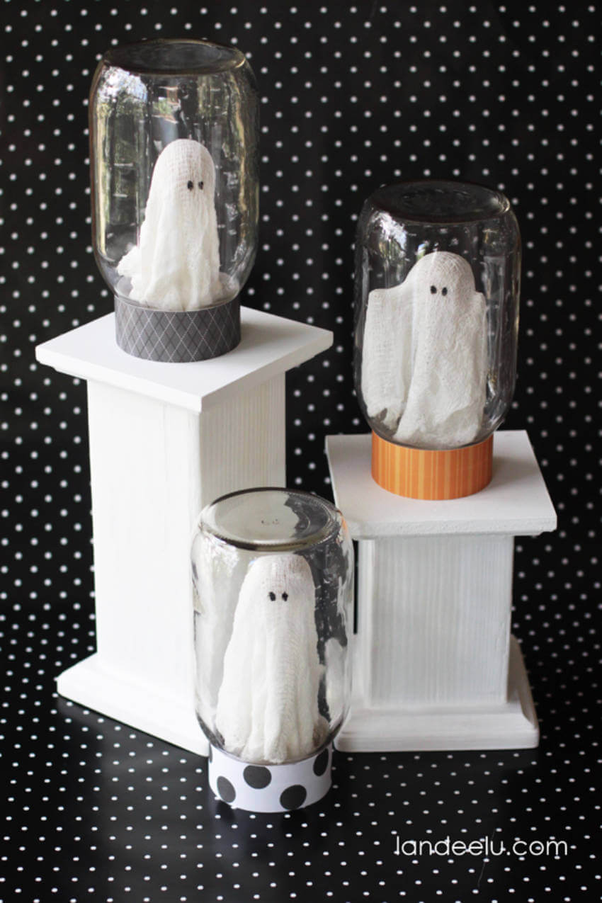 These ghosts are perfect for decorating the mantel