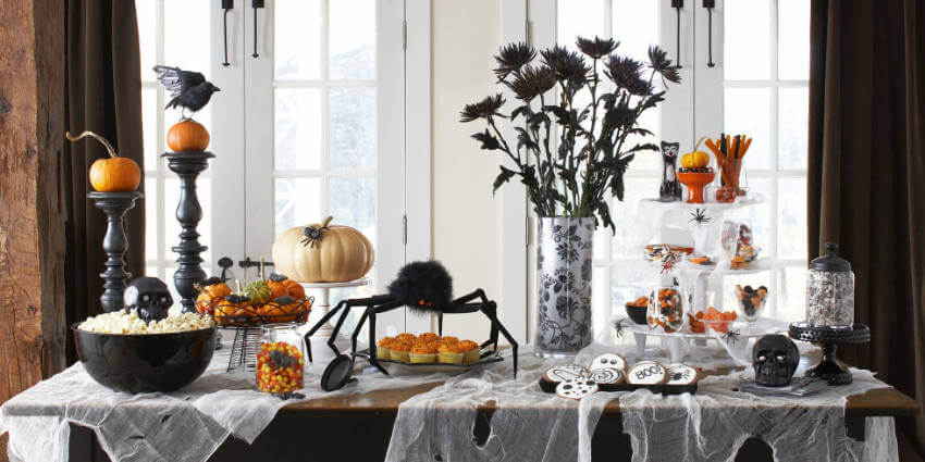 Don't be afraid to go all out with spooky Halloween table decor!