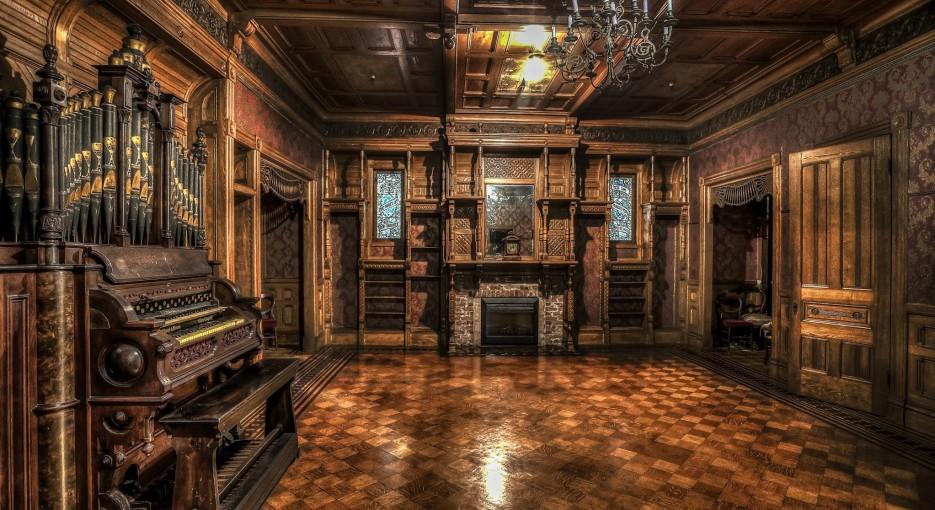Haunted wooden interior