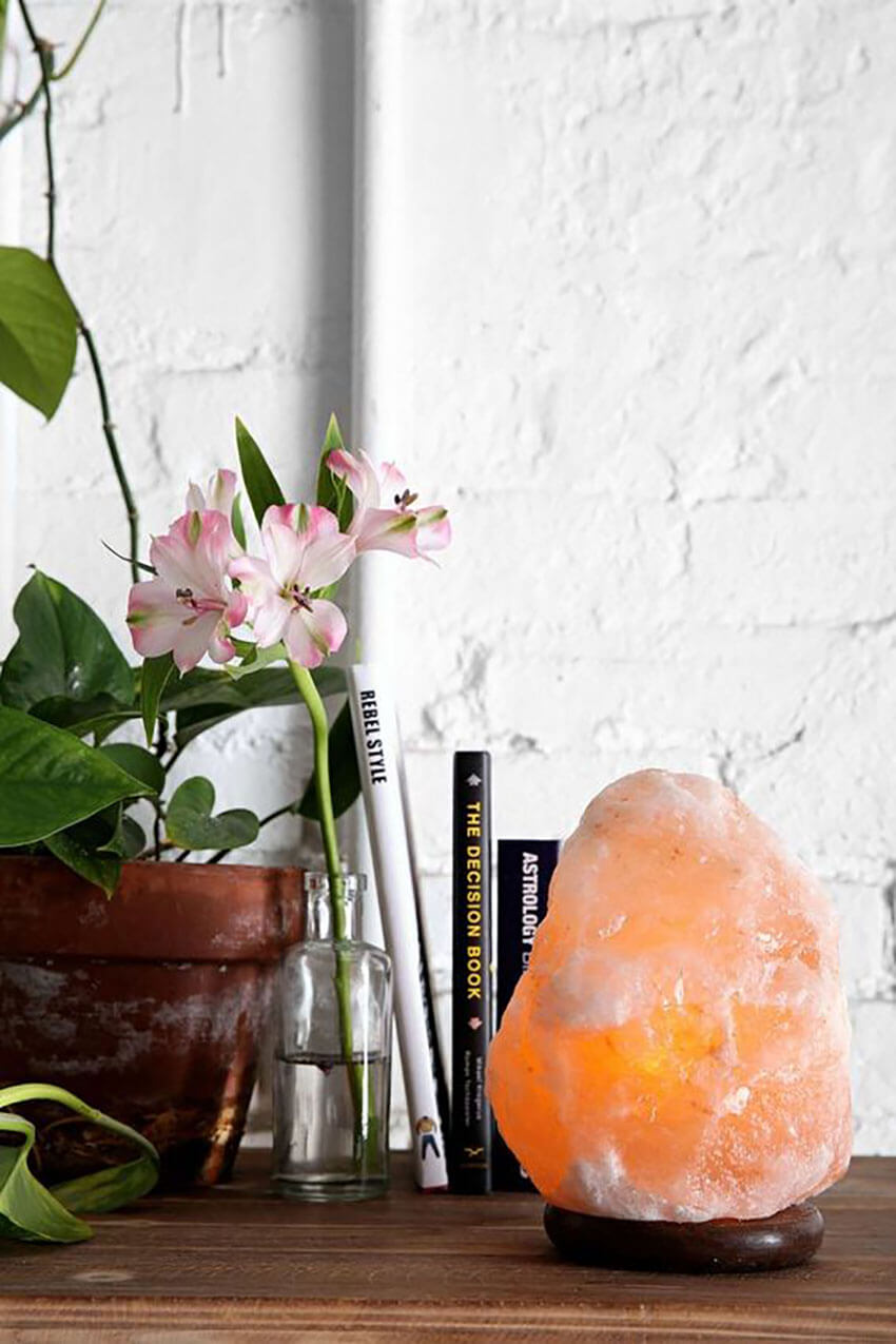 Salt Lamps are also perfect to decorate the house.