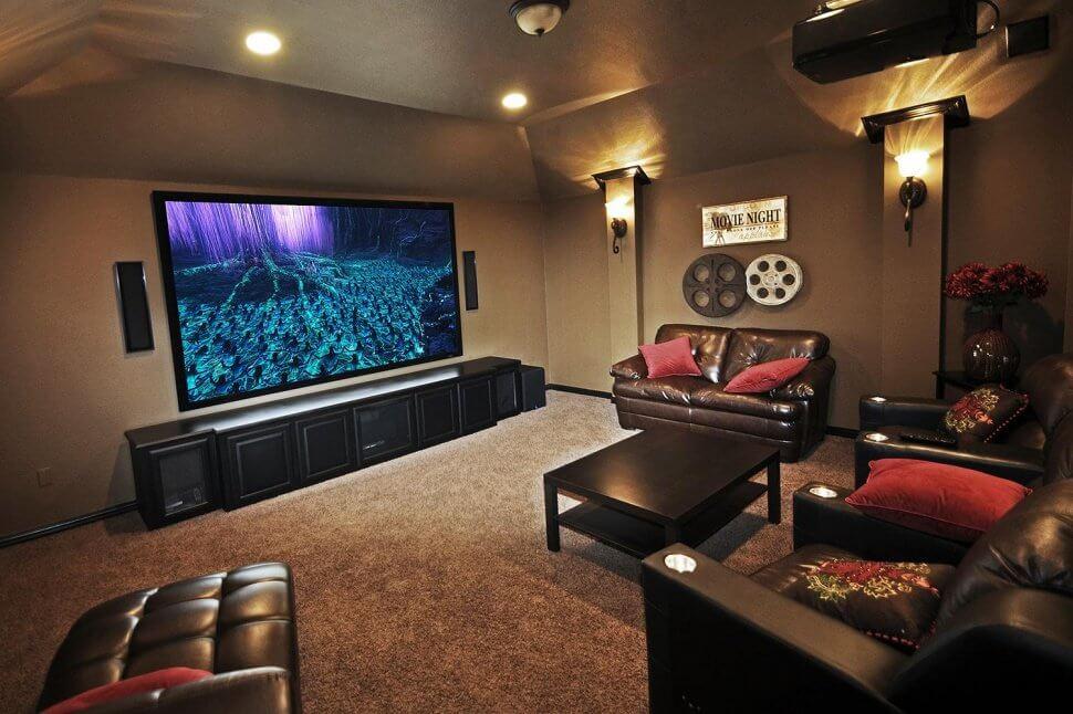 Intimate downstairs living room display