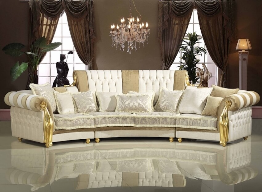 Ornate, regal couch options for a home