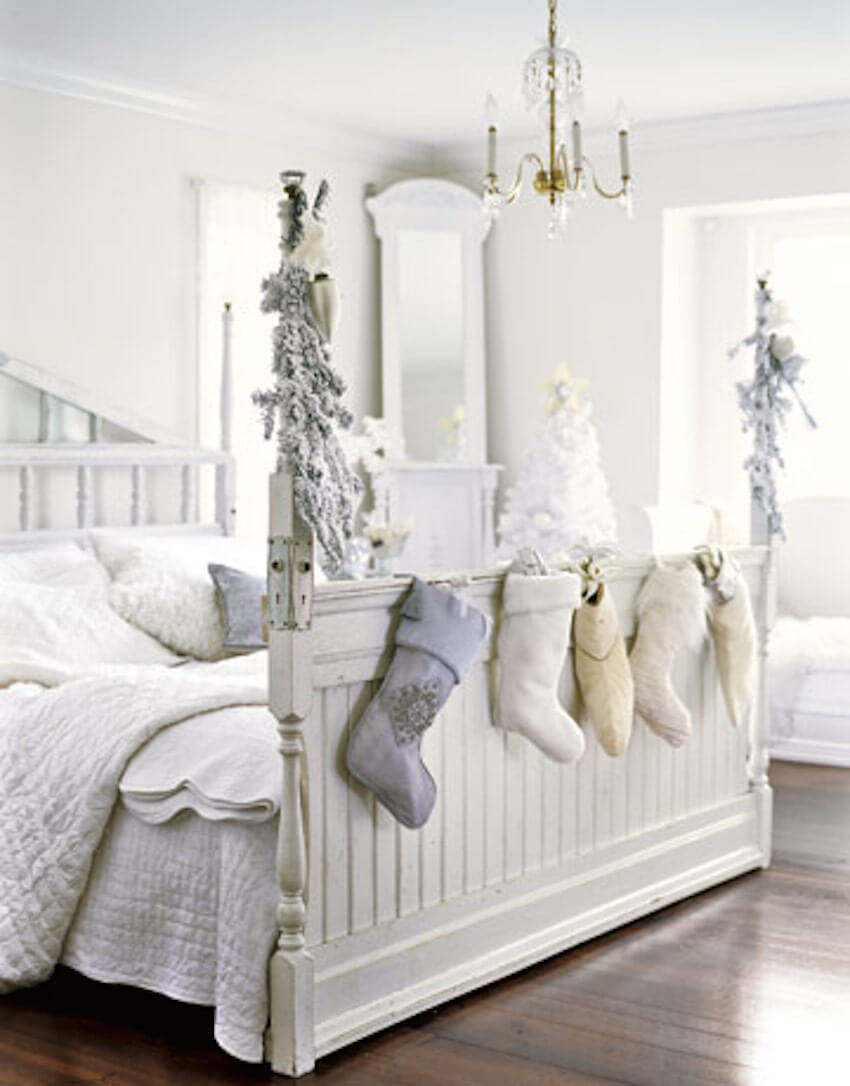 Even the bedroom could use some holiday decor and sheets
