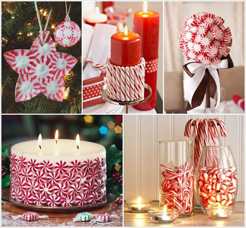 Plenty of ways to use peppermint as decor