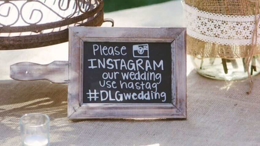 Instagram hashtags can help you see your weddings from your guests perspective.