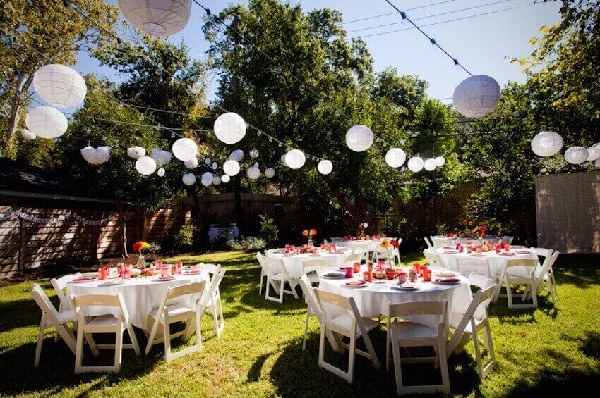 Exterior lawn wedding bliss