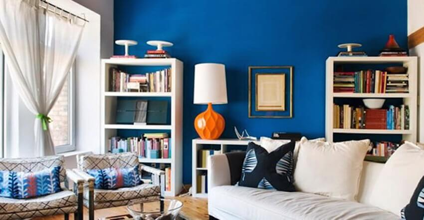 Painting a room blue has a calming effect