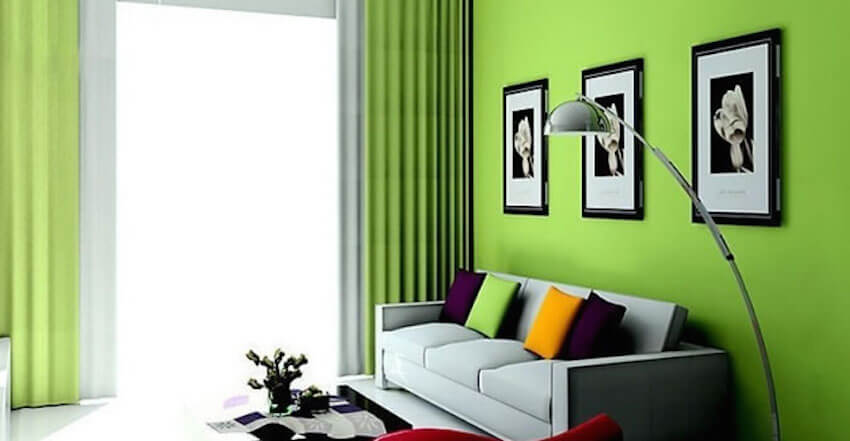 Painting green walls can be healing