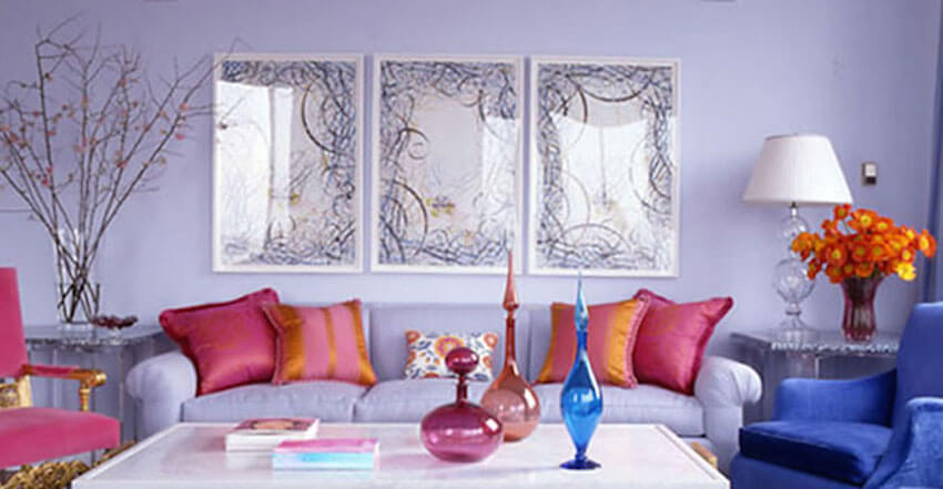 Meditate and reach elevation more easily in a Lilac colored room