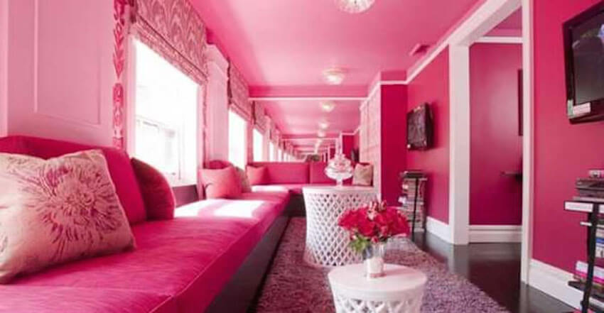 Painting your bedroom pink can help with sensitivity