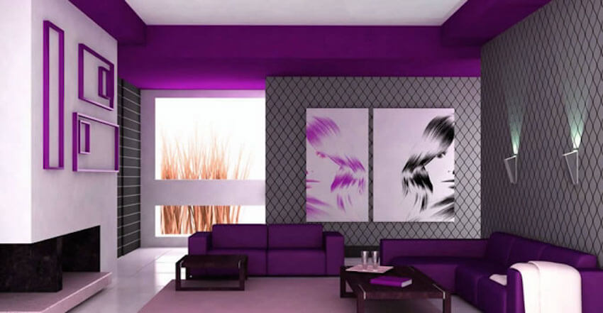 Purple walls at home are glamorous and help with creativity