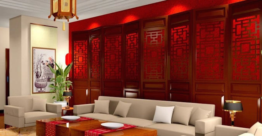Red painting walls are stimulating and energetic