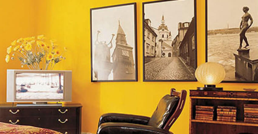 Painting the walls yellow can make you alert and upbeat