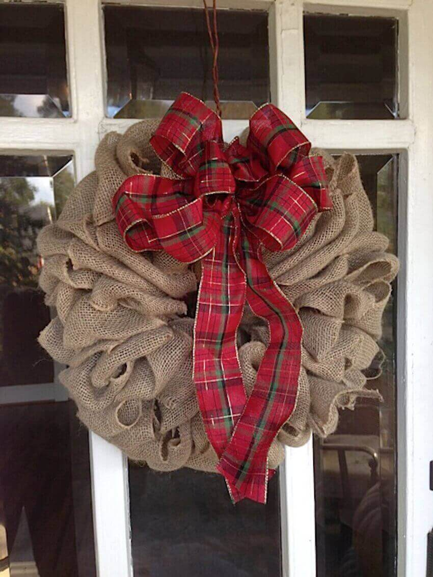 Rustic wreath decor for the home exterior