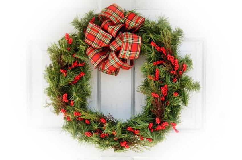 Front door wreath options for a DIY outdoor decoration
