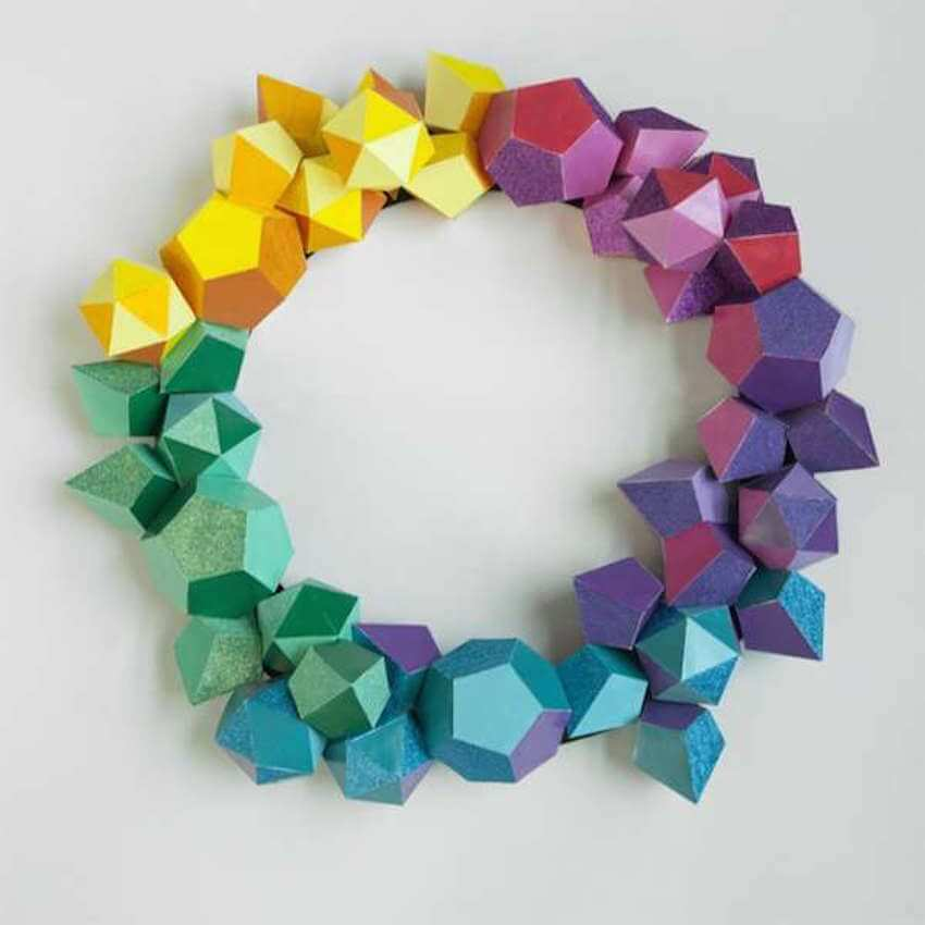 Origami wreaths for the more ambitious DIY family