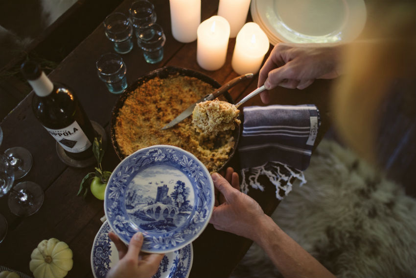 There is nothing more hyggeligt than having friends around the fireplace, drinking tea or eggnog, eating nourishing food. Image Source: Hygge Life