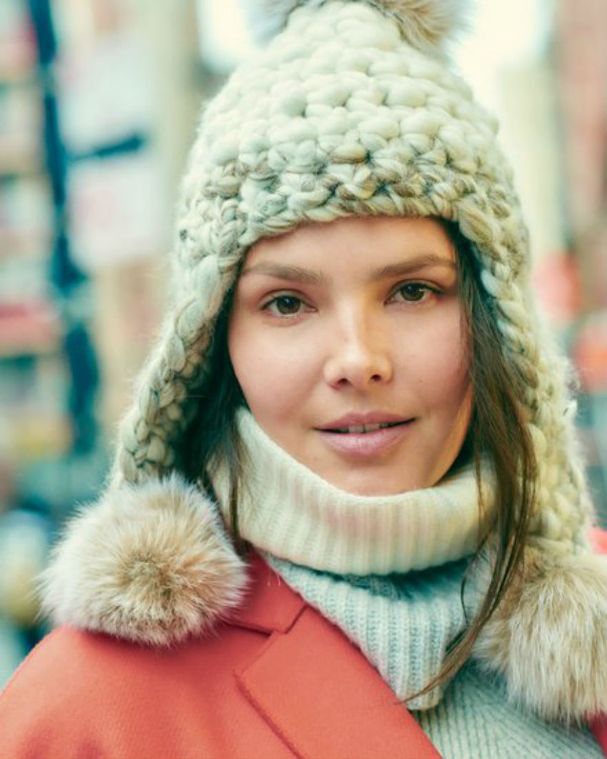 Scarves, knit hats and beanies according to New York top models. Image Source: Vogue