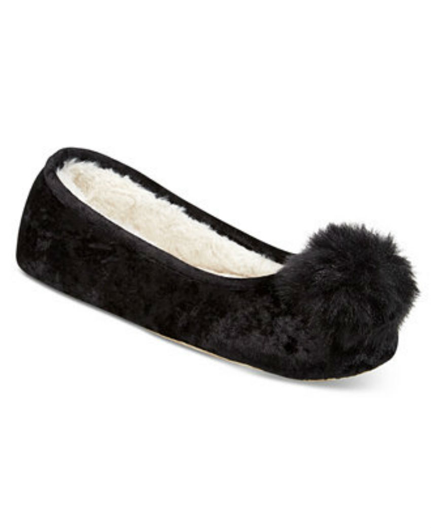 Stylish slippers to keep your feet warm. Image Source: Macy's
